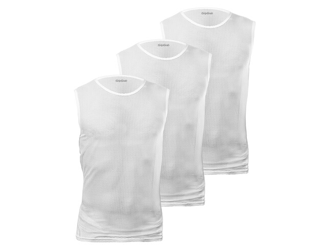 GripGrab Ultralight Mesh SL Mesh Baselayer Unisex 3-Pack, white